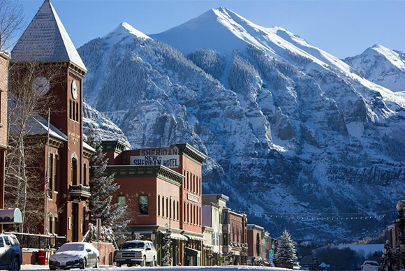 Town of Telluride in Winter